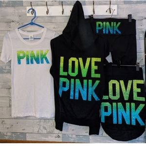 Vs pink ombre bling set